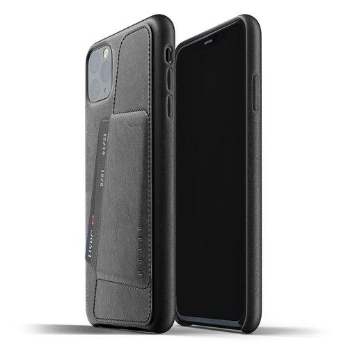 Mujjo Leren Wallet iPhone 11 Max - Zwart