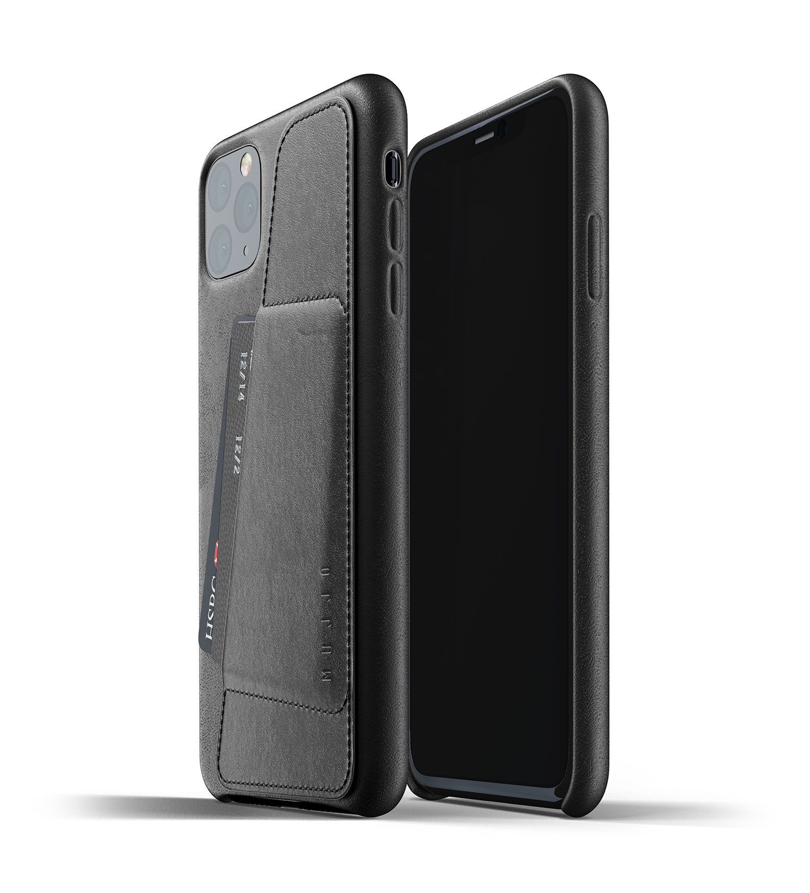 Leather Wallet iPhone 11 Max - Black