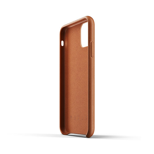 Mujjo Leather Case iPhone 11r - Brown