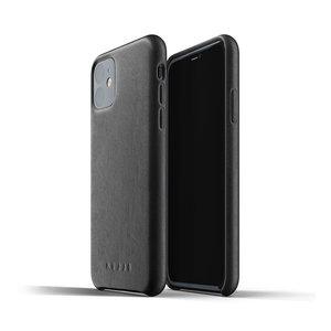 Mujjo Leren Hoesje iPhone 11r - Zwart