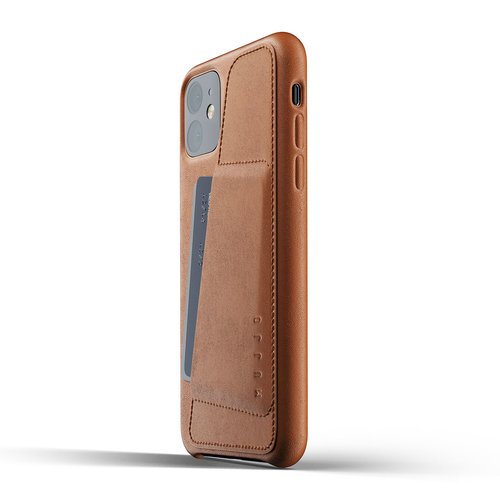 Mujjo Leather Wallet iPhone 11r - Brown