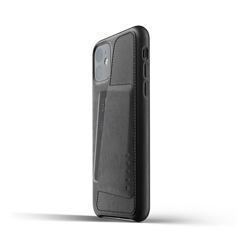 Mujjo Leather Wallet iPhone 11r - Black
