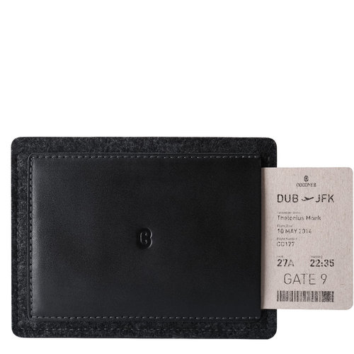 Cocones Passport Wallet - Black