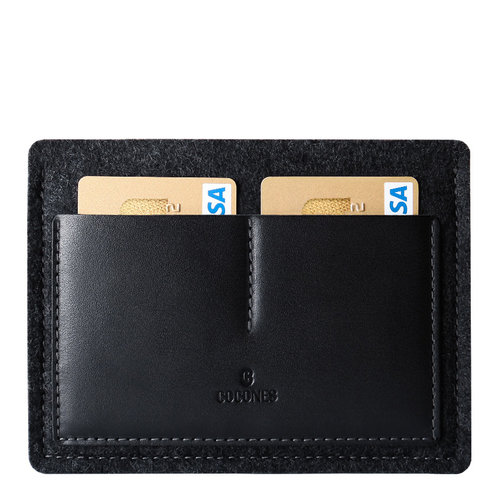 Cocones Passport Wallet - Zwart