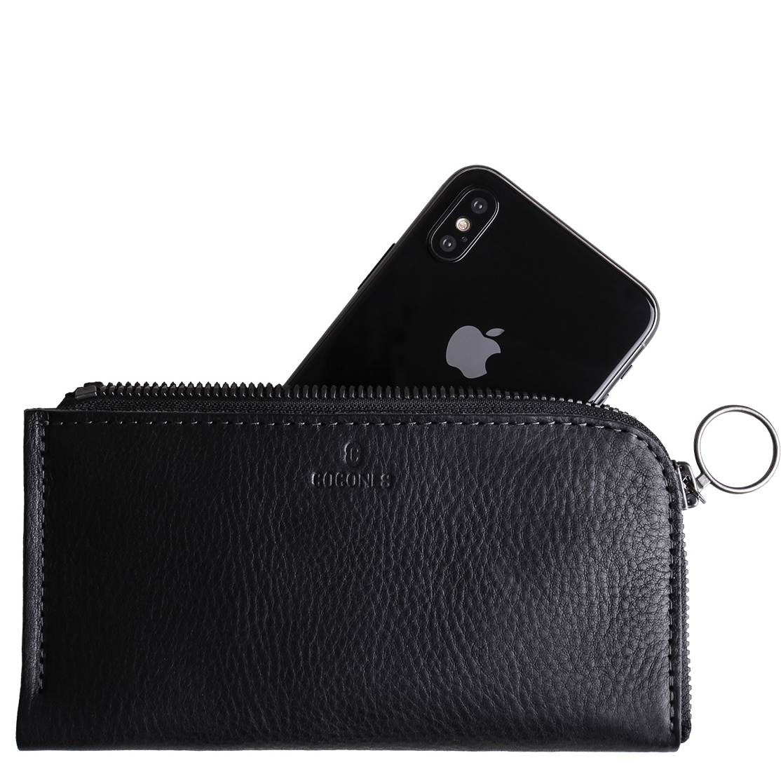iPhone Zip Wallet - Black
