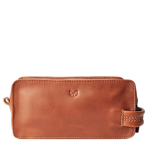 Capra Leather Barber Toiletry - Tan