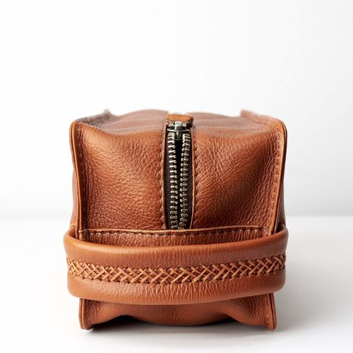 Capra Leather Barber Toiletry - Tan