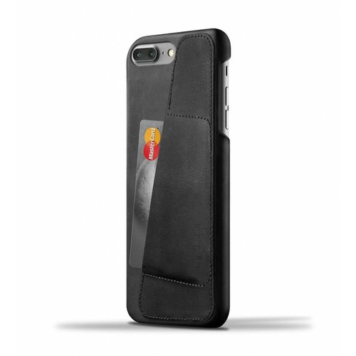 Mujjo Leather Wallet for iPhone 7 Plus - Black