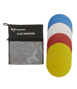 RAM Cricket Platte Markeerhoedjes - Trainingpylonen - 20 stuks