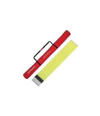 RAM Cricket Training/ Slalompalen - 10 stuks met rubberen flexibele voet