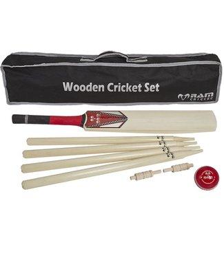 RAM Cricket: Houten Cricket set, compleet in nette tas