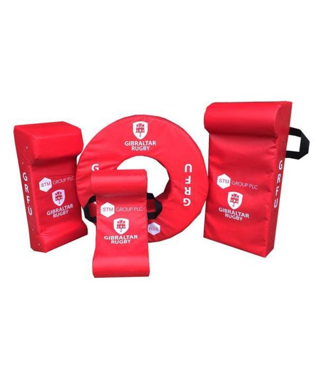 RAM Rugby Personalisierte Tackle Bags und Hitshields