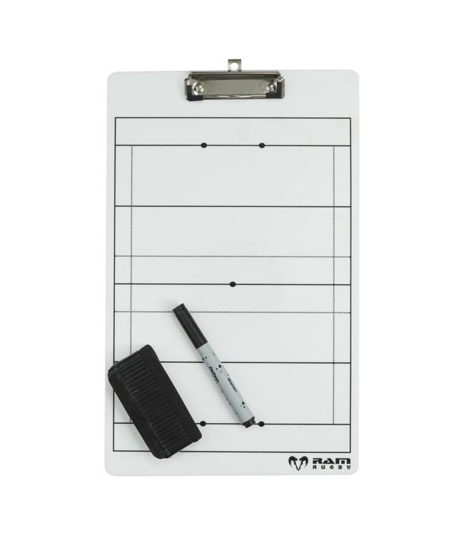 RAM Rugby Clipboard, incl. lay-out rugby veld