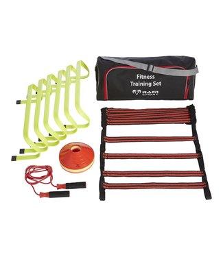 RAM Rugby Fitness Training set. Horden, ladders, cones en springtouw in nette tas