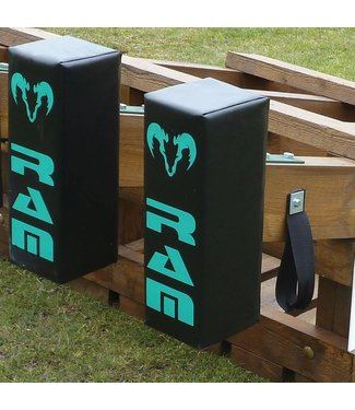 RAM Rugby 4 scrum machine pads + houder, Rugby Scrum Machine
