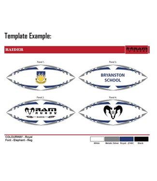 RAM Rugby 37x RugbyBallen set bundel, complete mix Incl. Uw logo/Embleem!