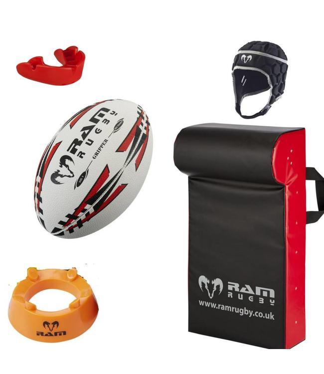 RAM Rugby Rugby-Starter Set Kids 6-10 Jahre, Beinhaltet Rugby Rucksack