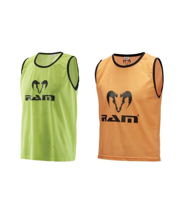 RAM Rugby Training Hesjes, overgooiers, shirts (10 stuks)