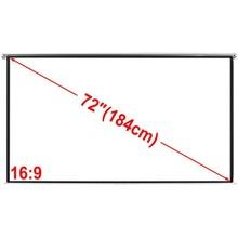 Projectiescherm wit 160 x 90 cm (16:9 formaat)