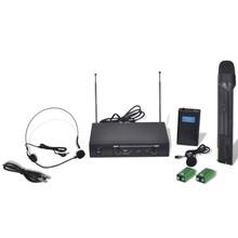 Ontvanger met 1 draadloze microfoon en 1 draadloze koptelefoon VHF