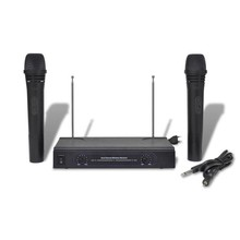 Set VHF ontvanger en 2 draadloze microfoons