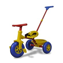 Kinder driewieler rood-blauw-geel voor kleine kinderen