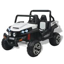 Elektrische speelgoedauto voor 2 personen wit en zwart XXL