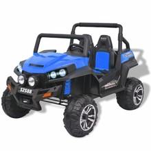 Elektrische speelgoedauto voor 2 personen blauw en zwart XXL
