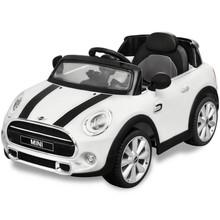 elektrische speelgoedauto Mini Cooper S wit