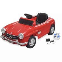 Elektrische auto Mercedes Benz 300SL rood 6 V met afstandsbediening