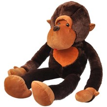 Knuffelbeest aap pluche bruin 175 cm