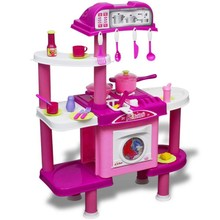 Grote speelkeuken met licht/geluidseffecten roze