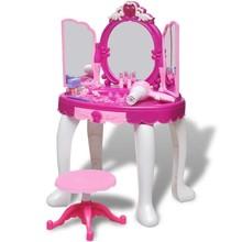 Staande speelgoedkaptafel met 3 spiegels en licht/geluid voor kinderen kinderkamer