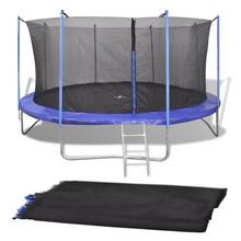 Veiligheidsnet PE zwart voor 3,96 m ronde trampoline