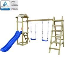 Speelhuis & glijbaan/ladder/schommels 286x237x218 cm grenenhout