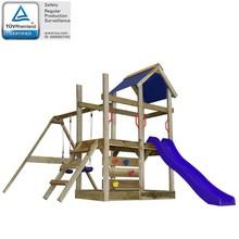 Speelhuis met ladder, glijbaan en schommels 400x226x245 cm hout
