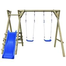 Schommelset met ladder en glijbaan 270x255x210 cm dennenhout