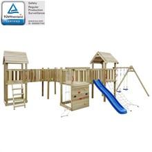 Speeltoestel + glijbaan, ladders, schommels 800x615x294cm hout