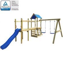 Speelset met trap, glijbaan en schommels 463x275 x243 cm hout