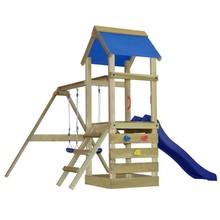 Houten speelset met ladder, glijbaan en schommel S