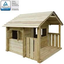 Speelhuis met 3 ramen 204x204x184 cm hout