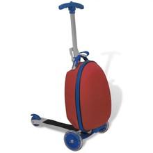 Step voor kinderen met koffer (rood)