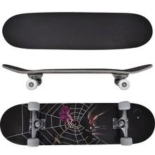 """Ovaal skateboard met spinnen design 9-laags esdoorn hout 8"""""""