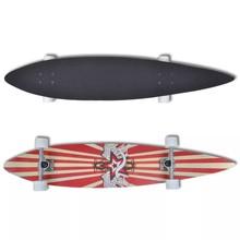 "Skateboard longboard star Esdoorn Aluminium 117 cm (rood) 9"""