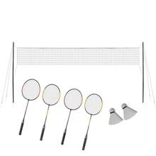 Badminton set 4-delig inclusief 4 rackets en 1 net
