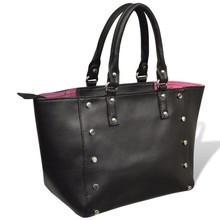 Handtas (zwart/roze)
