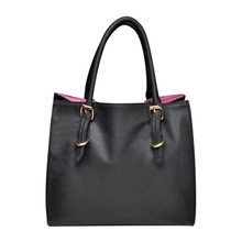 Handtas vierkant (zwart/roze)