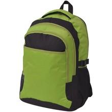 Rugzak voor school 40 L zwart en groen