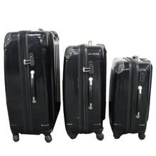 3-delige kunststof kofferset Spinner zwart