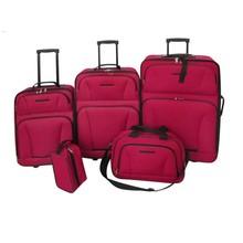 Reisbagage set rood 5-delig
